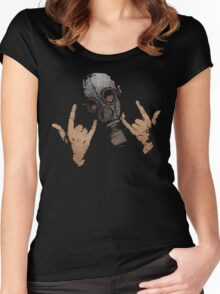 Devil Horns (Colour Version) Women's Fitted Scoop T-Shirt