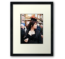 The Goth Weekend at Whitby, Oct 2010. 3 Framed Print