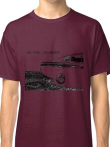 Valiant Charger Australian Muscle Car rear view, GO THE CHARGER black Classic T-Shirt