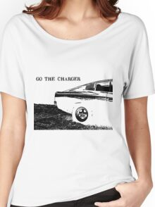 Valiant Charger Australian Muscle Car rear view, GO THE CHARGER black Women's Relaxed Fit T-Shirt