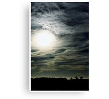 A great way to end your weekend... Canvas Print