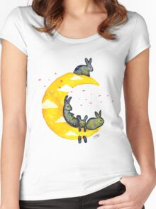 Hanging on the Moon Women's Fitted Scoop T-Shirt