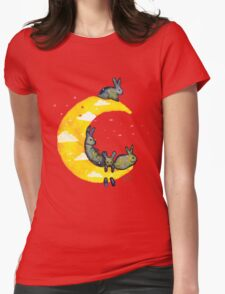 Hanging on the Moon Womens Fitted T-Shirt
