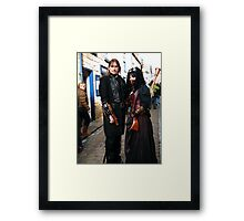 The Goth Weekend at Whitby, Oct 2010. 6 Framed Print