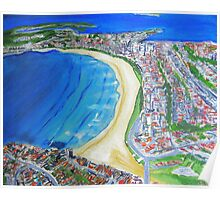 Sydney Beaches Aerial View Poster
