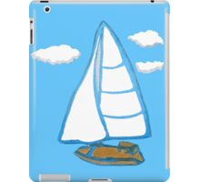 Sailboat Printmaking Art iPad Case/Skin