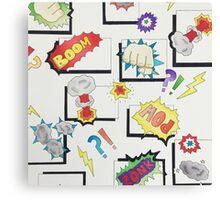 Comic Book Hero Canvas Print