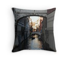 Under the Bridge (of sighs) Throw Pillow