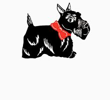 Scottish Terrier with a Red Bow Womens Fitted T-Shirt