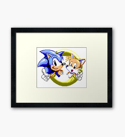 Sonic the Hedgehog - SEGA Genesis Sprite Framed Print