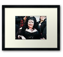 The Goth Weekend at Whitby, Oct 2010. 9 Framed Print