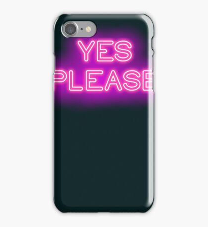 YES PLEASE iPhone Case/Skin