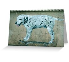 Dog on the Wall Greeting Card
