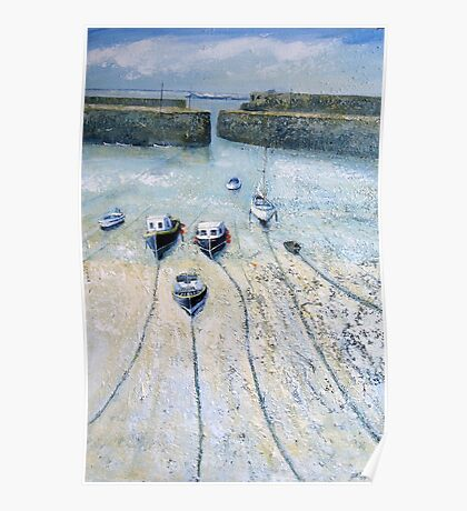 Mousehole Harbour, Cornwall Poster