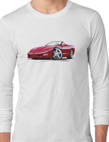 Chevrolet Corvette C5 Convertible Mag Red Long Sleeve T-Shirt
