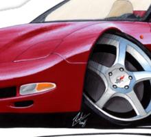 Chevrolet Corvette C5 Convertible Mag Red Sticker