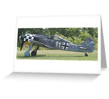 Focke Wolf FW-190 Greeting Card