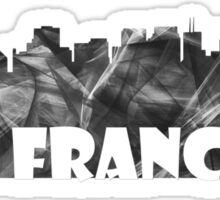 SAN FRANCISCO SKYLINE - BW Sticker