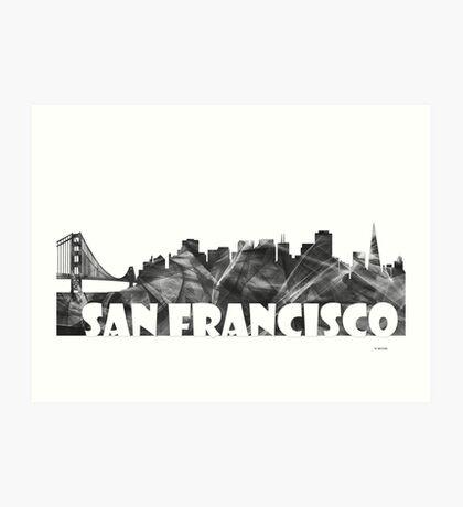 SAN FRANCISCO SKYLINE - BW Art Print