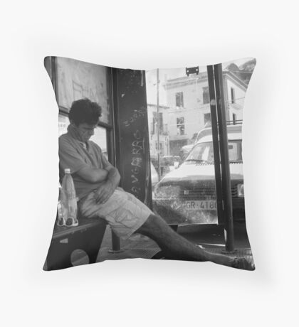 Reliable Bus times  Throw Pillow