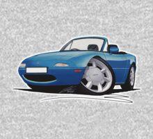 Mazda MX5 (Mk1) Blue Kids Tee