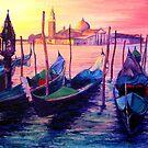 Venetian Gondolas by Genevieve  Cseh