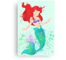Disney // Ariel Watercolor Canvas Print