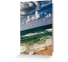 here sky and waves meet Greeting Card