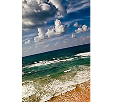 here sky and waves meet Photographic Print