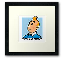 Tintin and Snowy: The Reality Framed Print