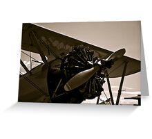 Vintage Bi Plane Greeting Card