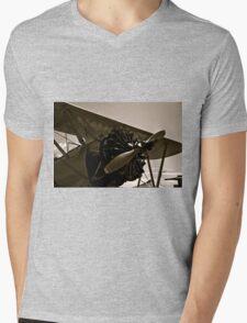 Vintage Bi Plane Mens V-Neck T-Shirt