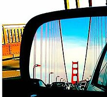 Golden Gate Bridge from my mirror by tigercute