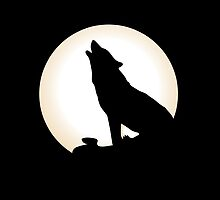 Wolf And The Moon by Nathanael Mortensen