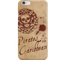 Pirates of the Caribbean Medallion iPhone Case/Skin