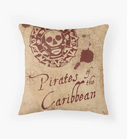 Pirates of the Caribbean Medallion Throw Pillow