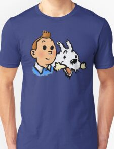 Tintin and Snowy v2 Unisex T-Shirt