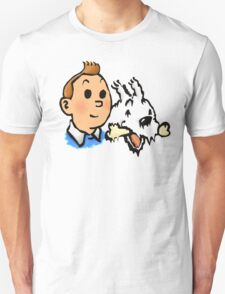 Tintin and Snowy v2 T-Shirt