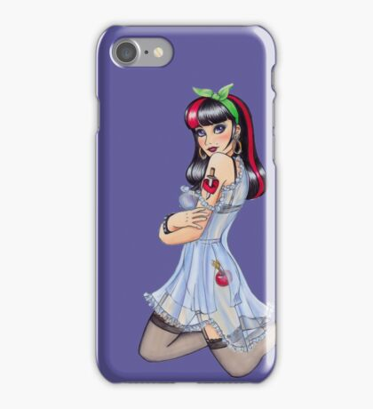 Cherry Bomb Pinup Girl iPhone Case/Skin