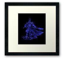 Warhammer 40k Night Lords Inspired Trooper - Blue Framed Print