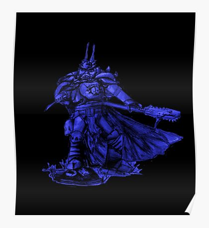 Warhammer 40k Night Lords Inspired Trooper - Blue Poster