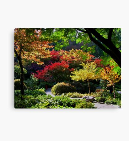 BUTCHART Gardens in FALL Canvas Print