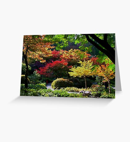 BUTCHART Gardens in FALL Greeting Card