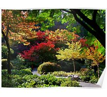 BUTCHART Gardens in FALL Poster