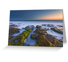 Misty Waters of Boomer Beach Greeting Card