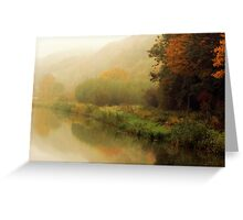 Fog along the river.. Greeting Card