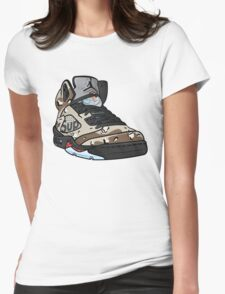 SUPREME CAMO 5s Womens Fitted T-Shirt
