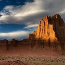 Temple of the Sun in Lower Cathedral Valley by Clayhaus