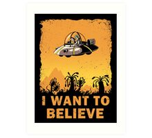 I Want to Believe, Morty Art Print
