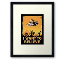 I Want to Believe, Morty Framed Print